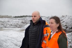 Niklas Dall arbetar med att koordinera de massor som behövs, totalt 2 miljoner ton.