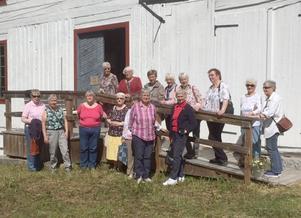 Medlemmarna i Hammerdals vävstuga fick uppleva en innehållsrik resa. Foto: Anna-Britta Jakobsson