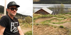 Åre bergscyklister bygger om ÅBC-dirten. Jesper Johnsson, ordförande i Åre bergscyklister.