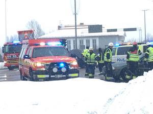 Larmet om olyckan kom in klockan 13.39 på måndagen.