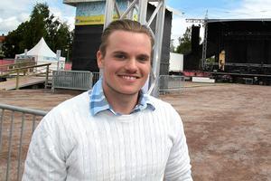 Robin Sjöblom, verksamhetsansvarig för Rättvik Bowling och Krog.