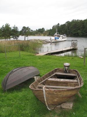Grytholmens friluftsmuseum. Båt med Penta U21-motor. Foto: Max Möllerfält
