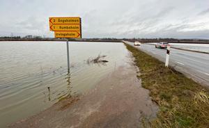 Översvämning vid Tysslingen i december 2019.