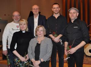Medverkande fr v Stefan Beimark, Zandra Zinner, Lars Jansson, Lena Hurtigh, Martin Eklöf och Tobias Helén. Foto: Bengt Ferm