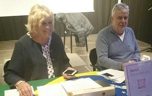 Jämt-Brasilianska vänskapsföreningen har haft medlemsmöte. Här ses ordförande Margareta Winberg och Mats Engman, kassör. Foto: Agneta Åstrand