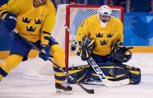 Jhonas Enroth räddade ett offensivt svagt Tre Kronor mot Tyskland då han höll nollan. Bild: Petter Arvidson.