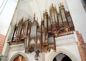 Domkyrkans stora orgel återinvigdes för tio år sedan. Foto: Alf Pergeman