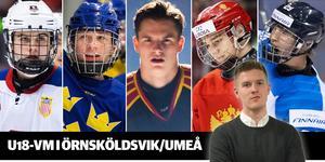 Hockeypuls redaktör Adam Johansson har identifierat 15 spelare man inte får missa under U18-VM. Foto: Kenta Jönsson / BILDBYRÅN.