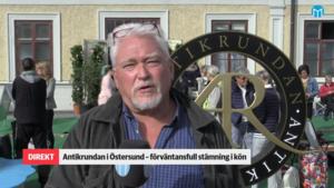 Bild på vår reporter Ingmar Reslegård under inspelningen i augusti.