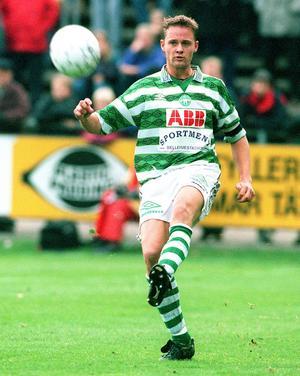 Peter Markstedt var en av nyckelspelarna i det VSK som inte kunde hålla sig kvar i allsvenskan 1997. Foto: Bildbyrån