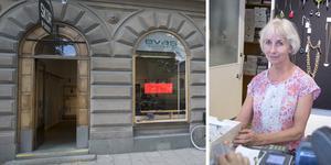 Ulla Östlund, ägare till Evas skor, tvingas stänga butiken på Storgatan 19.