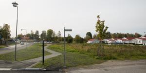 Marken som Nybo vill sälja ligger med kortsidan mot Mejselvägen och långsidan mot Rudkällavägen.