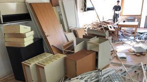 Kontoren har slängts ut och utrymmet blåsts ut. Här kommer det bli flera lägenheter av varierande storlek. Foto: Pressbild