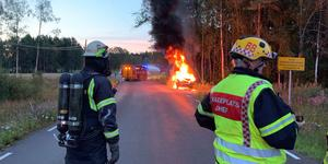 Bild från platsen. Foto: Brandkåren Norra Dalarna.