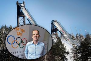 Fotomontage: Arkivbild och TT Nyhetsbyrån.OS-drömmen lever för Falun 2026 – kampanjgeneralen: