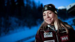 Frida Hansdotter kan blicka tillbaka på karriärens bästa säsong med OS-guldet som kronan på verket. Bild: Pontus Lundahl/TT.