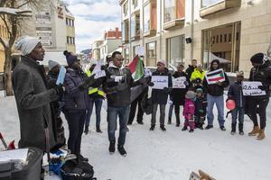 De passade på att demonstrera mot regimen i Sudan.