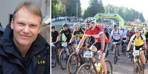 Lokalpolisområdeschefen i Mora, Jonas Holfve, tror att ligor står bakom cykelstölderna. Bilden är ett montage.