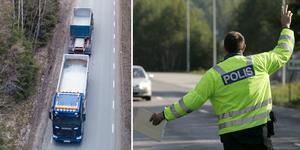Under insatsveckan ska den yrkesmässiga trafiken kontrolleras. Foto: Fredrik Sandberg/TT,  Anders Wiklund/TT