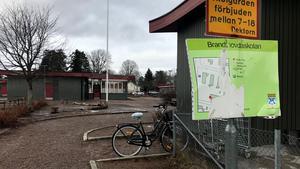 Brandthovdaskolan efter händelsen på torsdagen.