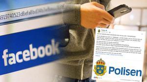 Polisen gick ut i sociala medier och varnade för