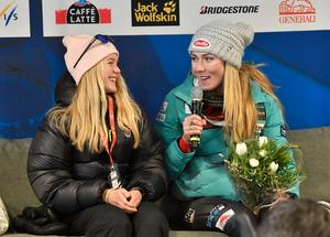 Mikaela Shiffrin och Emma Lundell