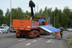 Olyckan i somras orsakade stopp i trafiken på Hanröleden.