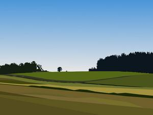Sörmländskt landskap av Erik Stenborg.