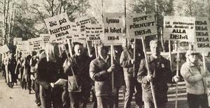 Demonstration i samband med kommunfullmäktige i Härjedalen 1978.