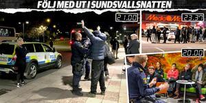 I reportaget får du följa med ST:s reporter Katarina Vikström ut i Sundsvallsnatten. På vägen stöter hon på droger och langning. Föräldrar som bryr sig – och ungdomar som vill roa sig. Grafik: Robin Brinck