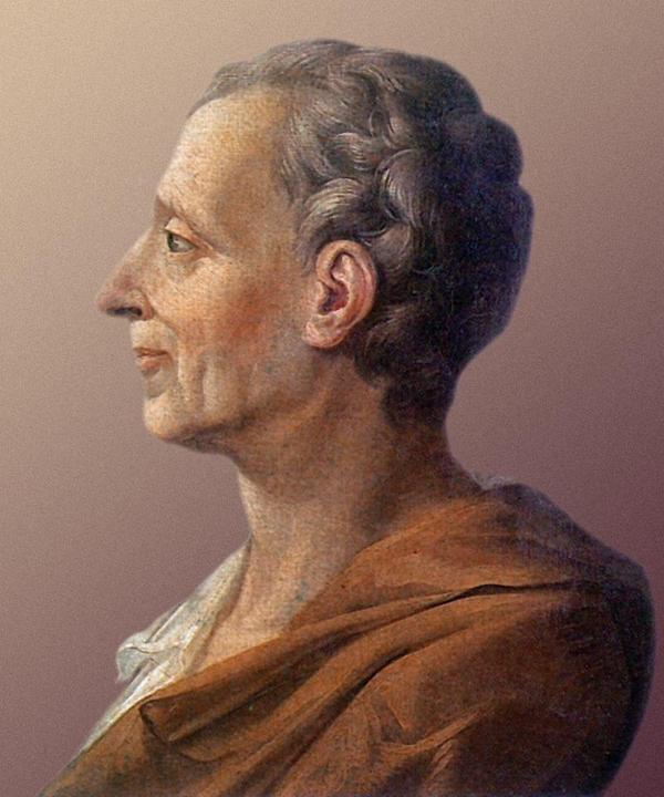 Den franske politikern och filosofen Charles-Louis de Secondat Montesquieu. Målning från 1728 av okänd konstnär.