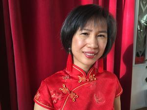 Louise Jian Hua var en av arrangörerna till det kinesiska nyåret som firades på restaurang Wongs på söndagen.
