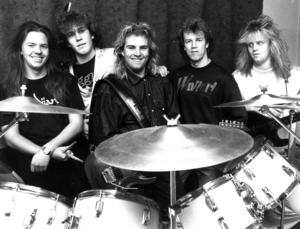 Inzight 1989. Från vänster: Tommy Mattsson, Peter Eriksson, Peter Gidlund, Christer Åsell och Mikael Stålberg. Foto: ÖP:s arkiv