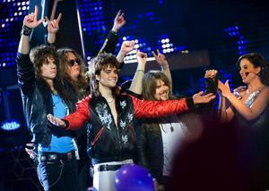 Heat, som var med i Melodifestivalen i år, spelar den 10 juli. Foto: Scanpix