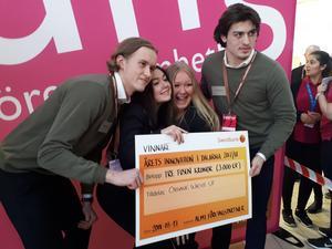 Från vänster i bild: Christoffer Juvas, Minna Smångs, Angelika Gullersbo och Erik Aterius. Foto: Privat.
