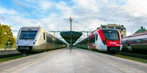 SJ och X-trafik fördjupar sitt samarbete för att kunna erbjuda länets tågresenärer fler avgångar, både vardagar och helger. Foto: Tobias Rudebark Tapper