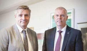 Lars Isacsson och Anders Friberg var båda lättade och glada över att efter nästan ett års hemlighetsmakeri få avslöja vilken jätte det var som köpt mark i Horndal.