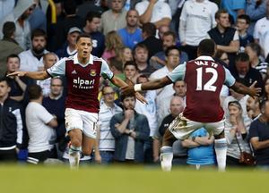 Ravel Morrison i West Ham-tröjan.