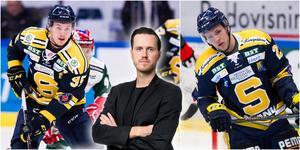 Nick Olesen och Christopher Bengtsson är två spelare som SSK-coacherna vill få ut mer av. Foton från Bildbyrån. Montage: Mittmedia.