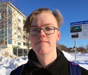 Isac Jakobsson, 17 år, studerande Sundsvall