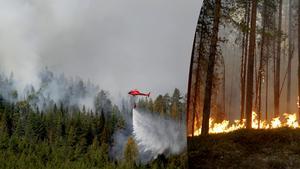 Vi är sårbara, eftersom vi inte har egna plan som kan vattenbomba elden, skriver Leif Nyström. Bilder:  Mats Andersson/TT.