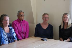 Lärare på Domnarvets skola, förbannade på nedskärningar. Foto: Gustaf Hallin.