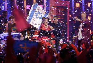 Netta Barzilai från Israel vann Eurovision Song Contest 2018. Arkivfoto: Armando Franca/TT