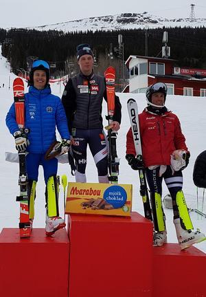 Filip Vennerström tog två guld under SM i Åre. Bild: Privat.