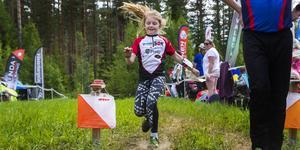 Åttaåriga Lisen Moberg från Sundsvalls OK var snabb in i mål, när hon tävlade i D10-klassen under lördagen.