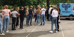 Skolstart för årskurs sex till nio på Fryxelska skolan. Foto: Susanne Alm