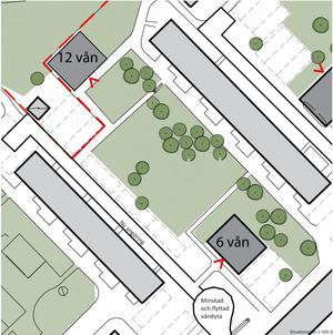 Två punkthus med totalt 75 lägenheter vill Telge bostäder bygga på sin mark i Fornbacken.