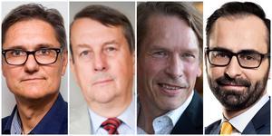 Pontus Böckman, Pär Granstedt, Mats Pertoft och Ninos Maraha.