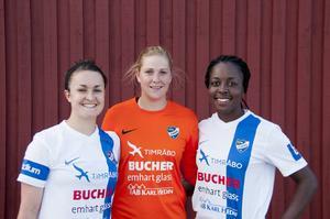 Anna Evans, Hannah Clark och Bupe Okeowo är tre historiska amerikanskor i IFK Timrå.
