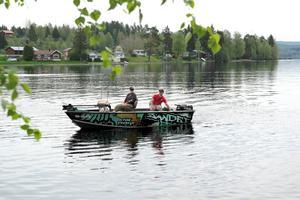 Dietmar Isaiasch föredrar att fiska i rinnande vatten. Ljusnan i Vallsta bjöd på många napp.